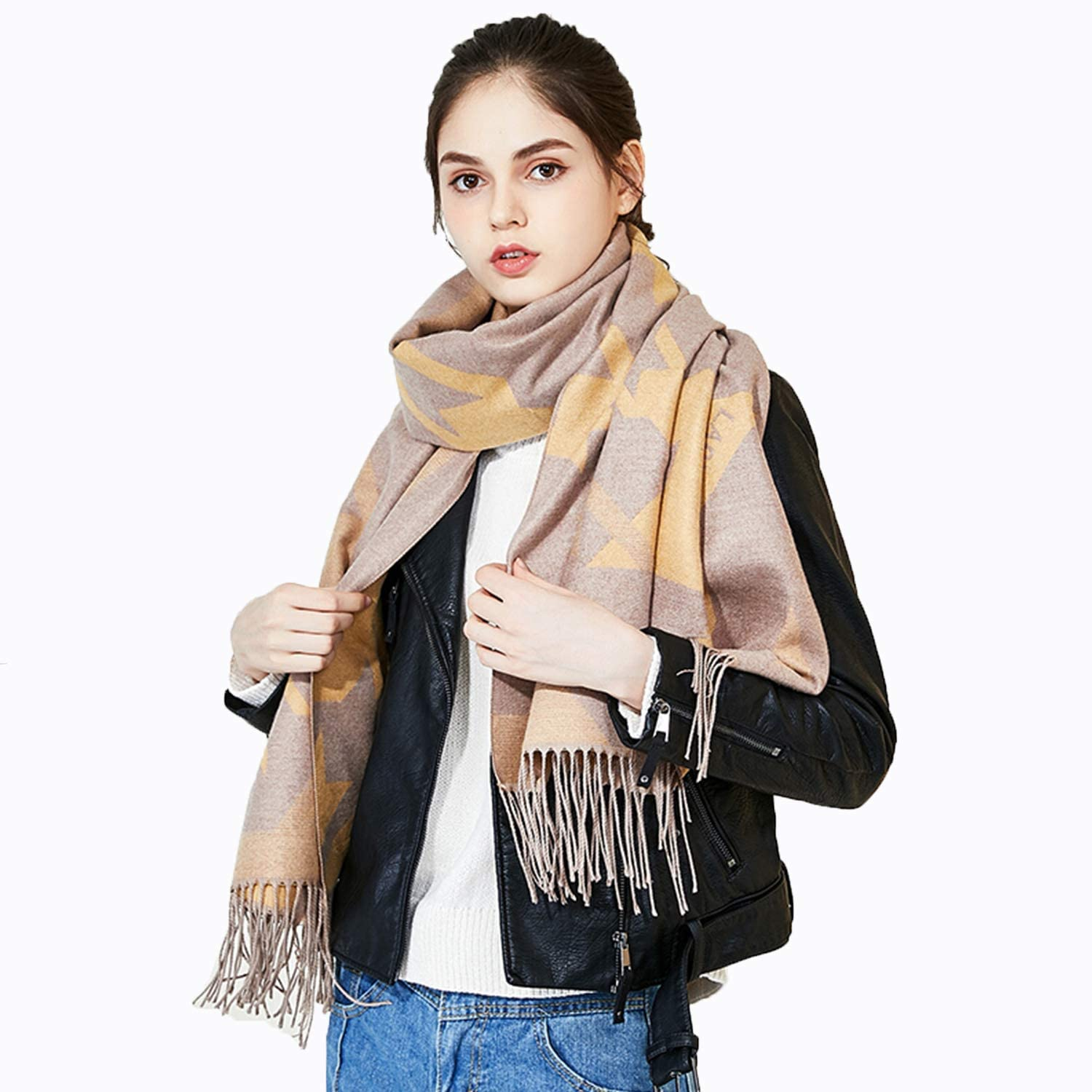 Elegant Warm Women's Scarf Fashion Soft Long Wrap Shawl Ideal for Ladies & Girls Outdoor Activities Use,205 X 65cm