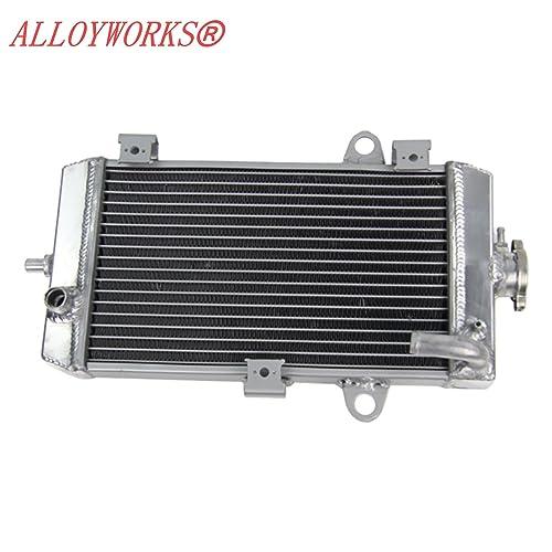 ALLOYWORKS All Aluminum Radiator for Yamaha Raptor 700 YFM700 2006 -2014 / 700R YFM700R 2009
