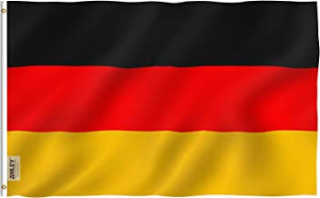 Anley Fly Breeze 3x5 Foot Germany Flag - Vivid Color and UV Fade Resistant - Canvas Header and Double Stitched - German Flags Polyester with Brass Grommets 3 X 5 Ft