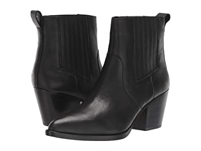 J.Crew Leather Chelsea Western Boot (Black) Women