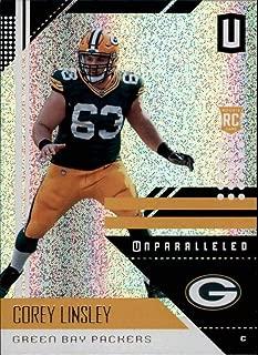 2018 Panini Unparallel NFL #74 Corey Linsley Green Bay Packers Panini Football Trading Card