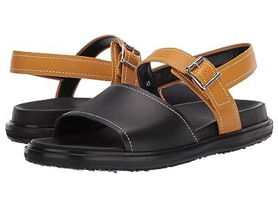 MARNI Fusbet Sandal (Black/Honey) Men