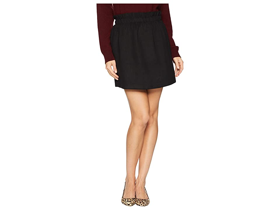 Bishop + Young Super Suede Mini Skirt (Black) Women