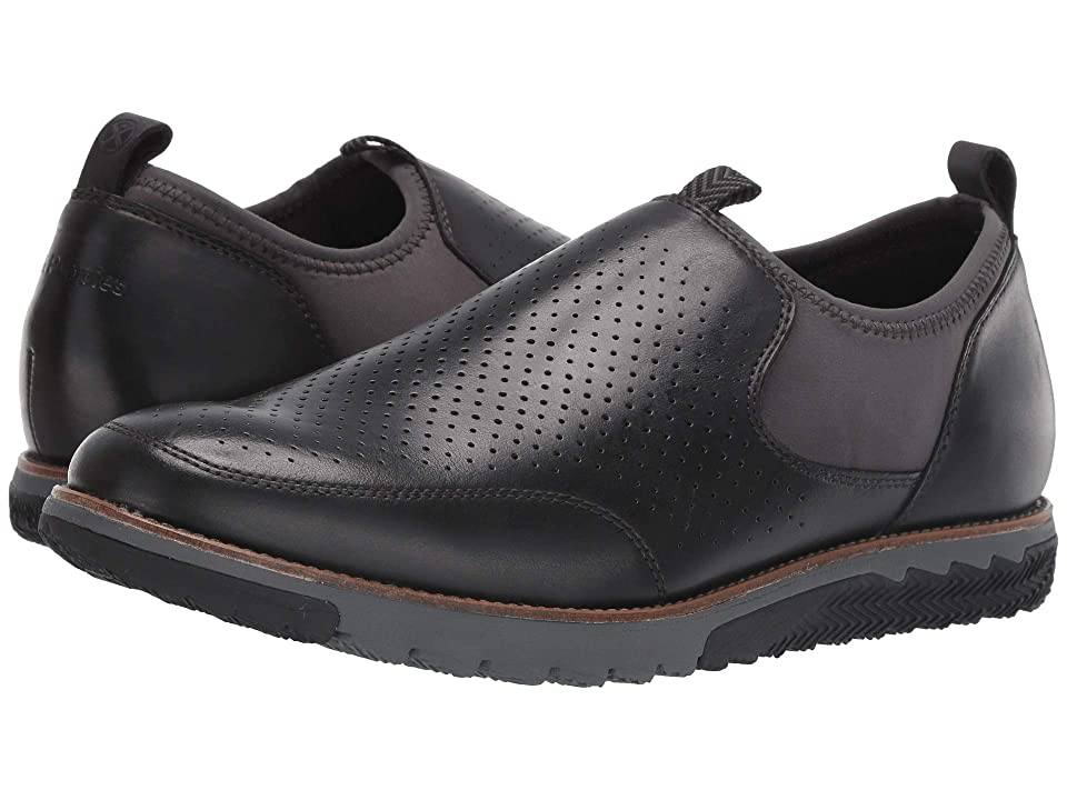 Hush Puppies Expert Perf Slip-On (Black Leather) Men