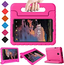 BMOUO Kids Case for T-Mobile Alcatel 3T 8 Tablet 2018/Alcatel A30 Tablet 8 2017, Lightweight Kid-Proof Handle Stand Case for Alcatel 3T 8 Tablet 2018 / Alcatel A30 8 inch 2017 - Rose