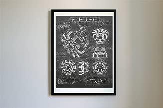 #114 Iron Man Arc Reactor Patent Art - Da Vinci Patent Prints, Poster, Artwork (11x14, Blackboard)