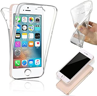 COPHONE® Funda iPhone 5c, Transparente Silicona 360°Full Body Fundas para iPhone 5c Carcasa Silicona Funda Case.