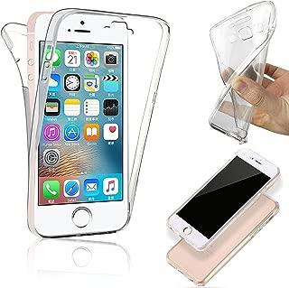 Funda COPHONE® para iPhone 5c, funda de silicona transparente completa de 360 ° para iPhone 5c.