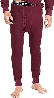Rocky Men's Waffle Thermal Underwear Set 2 pc Long John Underwear Ultra Soft Top and Bottom Base Layer
