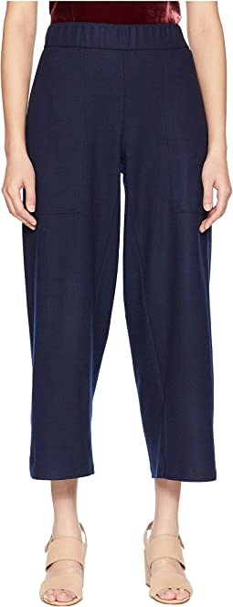 Boiled Wool Jersey Ankle Pants