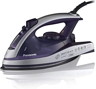 Panasonic Dry and Steam Iron with Alumite Soleplate, Fabric Temperature Dial and Safety Auto Shut Off – 1700 Watt Multi Di...