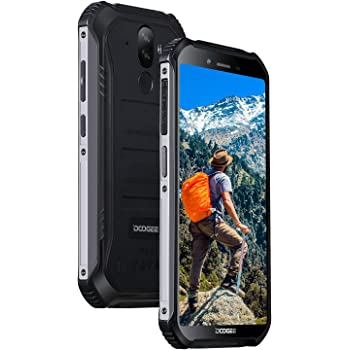 Rugged Outdoor Smartphone Unlocked, DOOGEE S40 Lite Android 9.0, Dual SIM Free 2G/3G Tough Mobile Phone 2+16GB, 5.5 Inch IP68 Waterproof 4650mAh, 8+5MP Dual Rear Cameras/Face ID/GPS Cellphone, Black