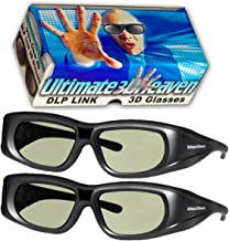 DLP LINK 144 Hz Ultra-Clear HD 2 PACK 3D Active Rechargeable Shutter Glasses for All 3D..