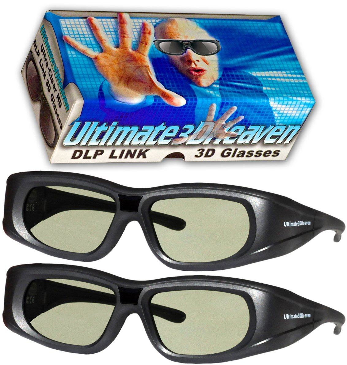 Ultra Clear Rechargeable Shutter Glasses Projectors
