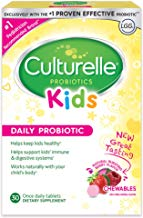 Culturelle Kids Chewable Daily Probiotic for Kids   Natural Berry Flavor Daily Supplement   30 count   Age 3+   100% Naturally Sourced Lactobacillus GG –The Most Clinically Studied Probiotic