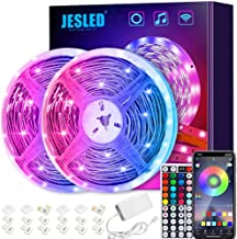 LED Strip Lights with Remote, JESLED 12m LED Lights for Bedroom, RGB Colour Changing Lighting Strip with 44 Key Remote for...