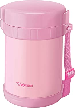Zojirushi Heat Insulation Lunch Box Stainless Steel Lunch Jar SL-GH18, Pink, SL-GH18 PA