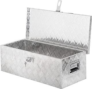 "F2C 30"" x 13"" x 10"" Premium Aluminum Tool Box Utility Truck Underbody Toolbox Lockable Trailer Storage Cabinet with 2 Universal Keys"