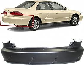 MBI AUTO - Primered, Rear Bumper Cover for 1998-2002 Honda Accord Sedan 98-02, HO1100184