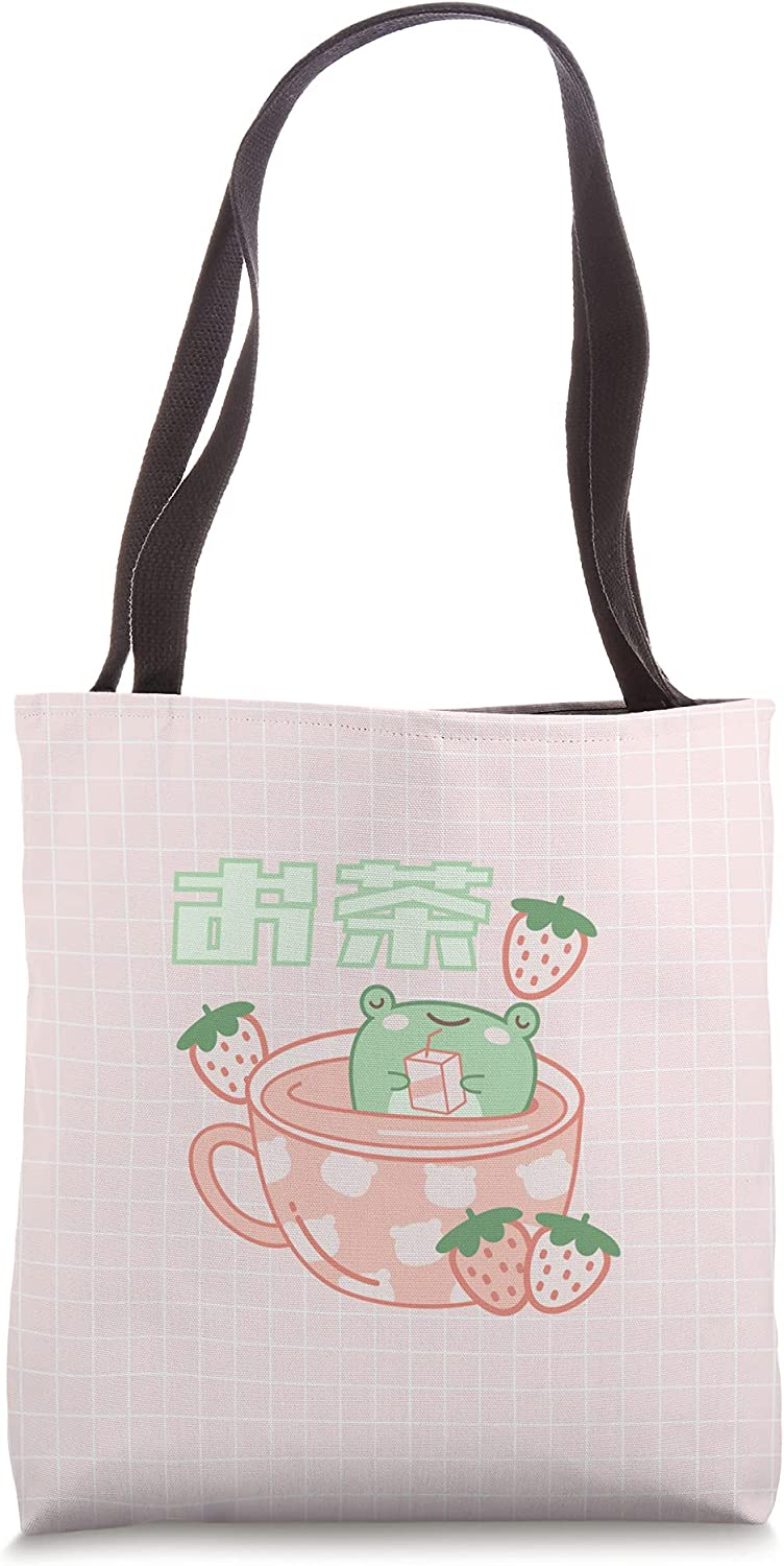Cute Max Be super welcome 88% OFF Frog Tea Cup Kawaii Aesthetic Bag Pink Tote
