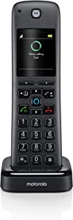 Motorola AX Handset for AX Series of Smart Wireless Home Phone Systems with Alexa Built-in and Speaker Phone - Accessory Cordless Phone Handset