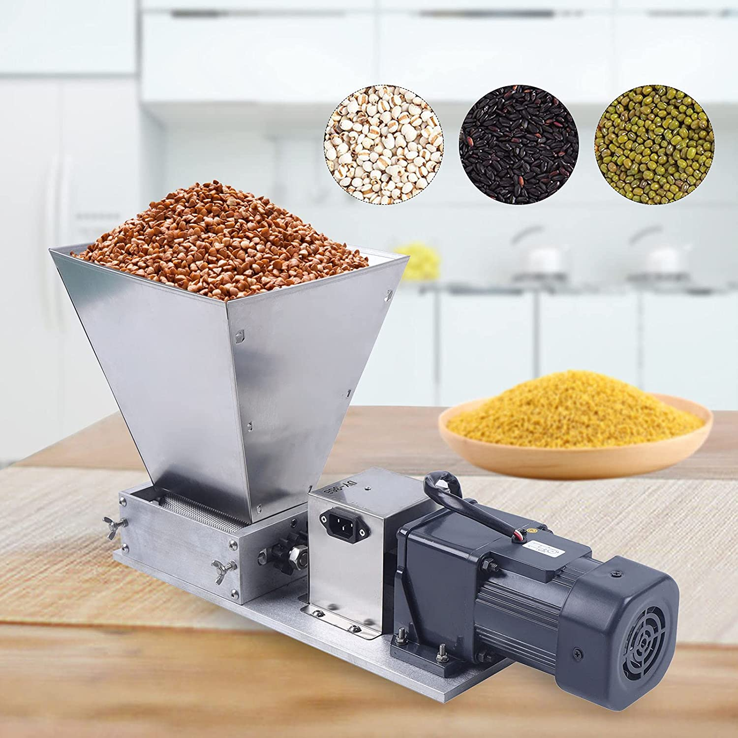 Electric Grain All items free shipping Mill Barley Kansas City Mall Home Grinder Malt Crusher