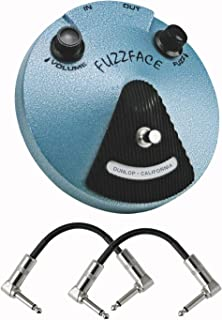 Dunlop Jimi Hendrix Fuzz Face Distortion Effects Pedal With a Pair of Patch Cables