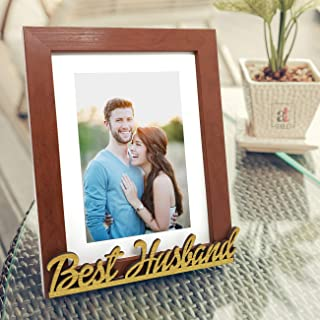Art street - Best Husband Customize Table Photo Frame Red and Black for Valentine Day(Photo Size 6X8) Photo Gift/Love Gift...