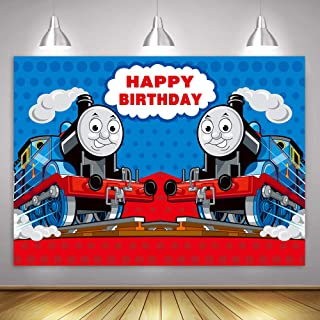 Thomas Train Background MME 10x7ft Children Birthday Party Photo Studio Photo Booth Backdrop Props ZYME0758