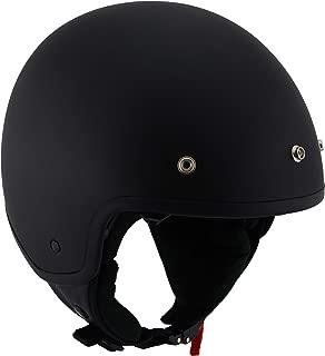 Milwaukee Performance Helmets Unisex-Adult Open face Accelerator Helmet (Mat Black, X-Large)