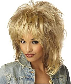 80/'S Groupie Wig Adult Brown Rock Diva Costume Wig