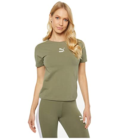 PUMA Classics Tight Top (Deep Lichen Green) Women