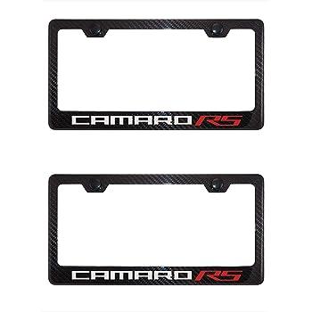 Camaro 6th Generation Carbon Fiber License Plate Frame Badge Logo West Coast Camaro