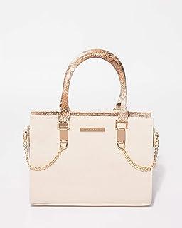 Ivory Stef Python Mini Tote Bag