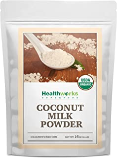 Healthworks Coconut Milk Powder (16 Ounce / 1 Pound) | Certified Organic | All-Natural, Creamy, Dairy-Free, Soy-Free, Paleo Diet, Vegan & Non-GMO
