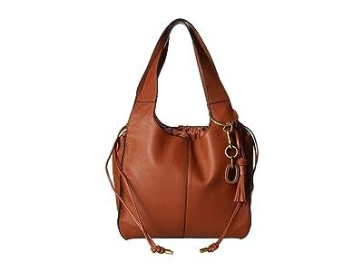 Vince Camuto Suni Shoulder Bag (Stable Brown) Shoulder Handbags