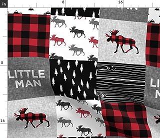 Spoonflower Fabric - Little Man Patchwork Quilt