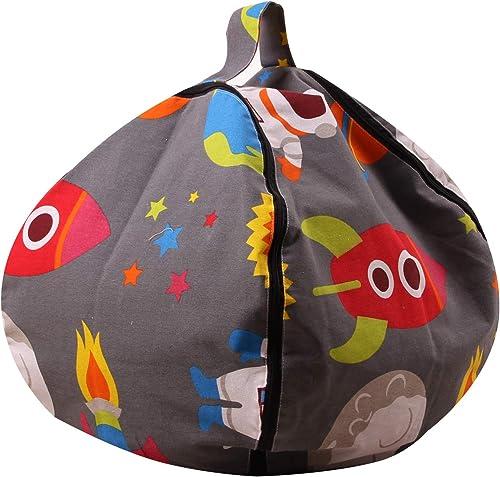 COMFOT Kinder Luftfürt Gefüllte Spielzeug Kleidung Lagerung Bean Bag Mehrzweck Lagerung Leinwand Organisieren Tasche 18 26 38 Zoll für Jungen mädchen Geschenk,38inch