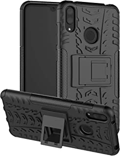 LiuShan Shockproof Heavy Duty Combo Hybrid Rugged Dual Layer Grip Cover with Kickstand for Huawei Y7 2019/ Y7 Pro 2019 /Y7...