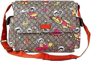 Women's Beige/Ebony GG Supreme Canvas Space Cat Diaper Bag 211131 8337