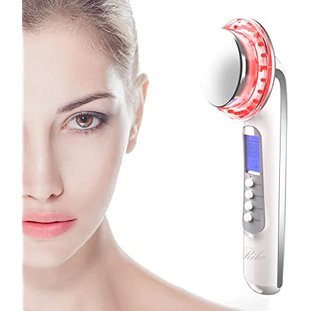 Rika LED facial massager. Photo LED light therapy Facial Massager, Light Therapy Device for Acne, Vibration Skin Firming Care
