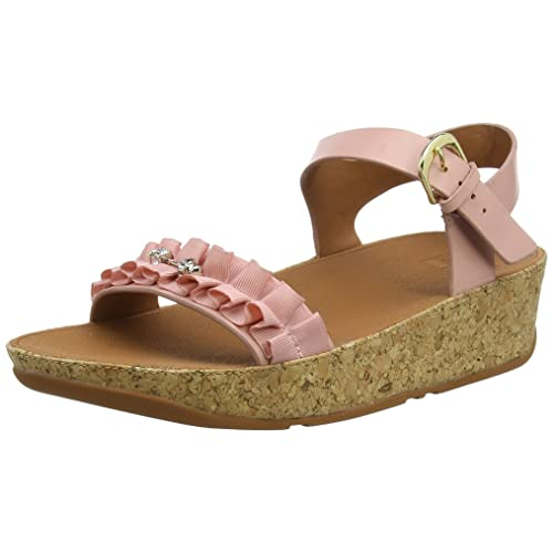 487744fb18484 Fitflop Womens Ruffle Back-Strap Open Toe Sandals