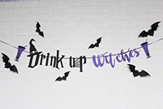 Drink Up Witches Banner Sign for Halloween Party Decoration