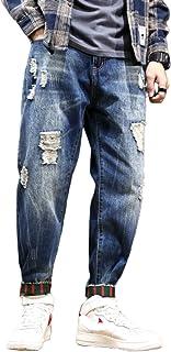 Zomer Plus Size Negenpunts Harembroek Europese En Amerikaanse Mode Gescheurde Losse Losse Gewassen Jeans Wandelen Dagelijk...