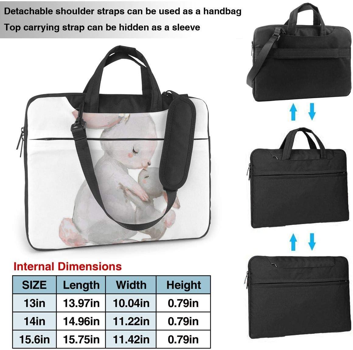 Rabbit Mother Kisses Bunny Laptop Bag,Shoulder Case Laptop Sleeve Bag Briefcase