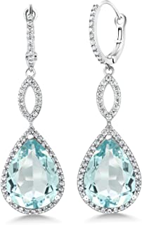 Best aquamarine dangle earrings Reviews
