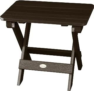Highwood Folding Adirondack Side Table, Weathered Acorn