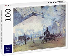 Lais Puzzle Claude Monet - estación de Tren Saint Lazare en París 100 Piezas