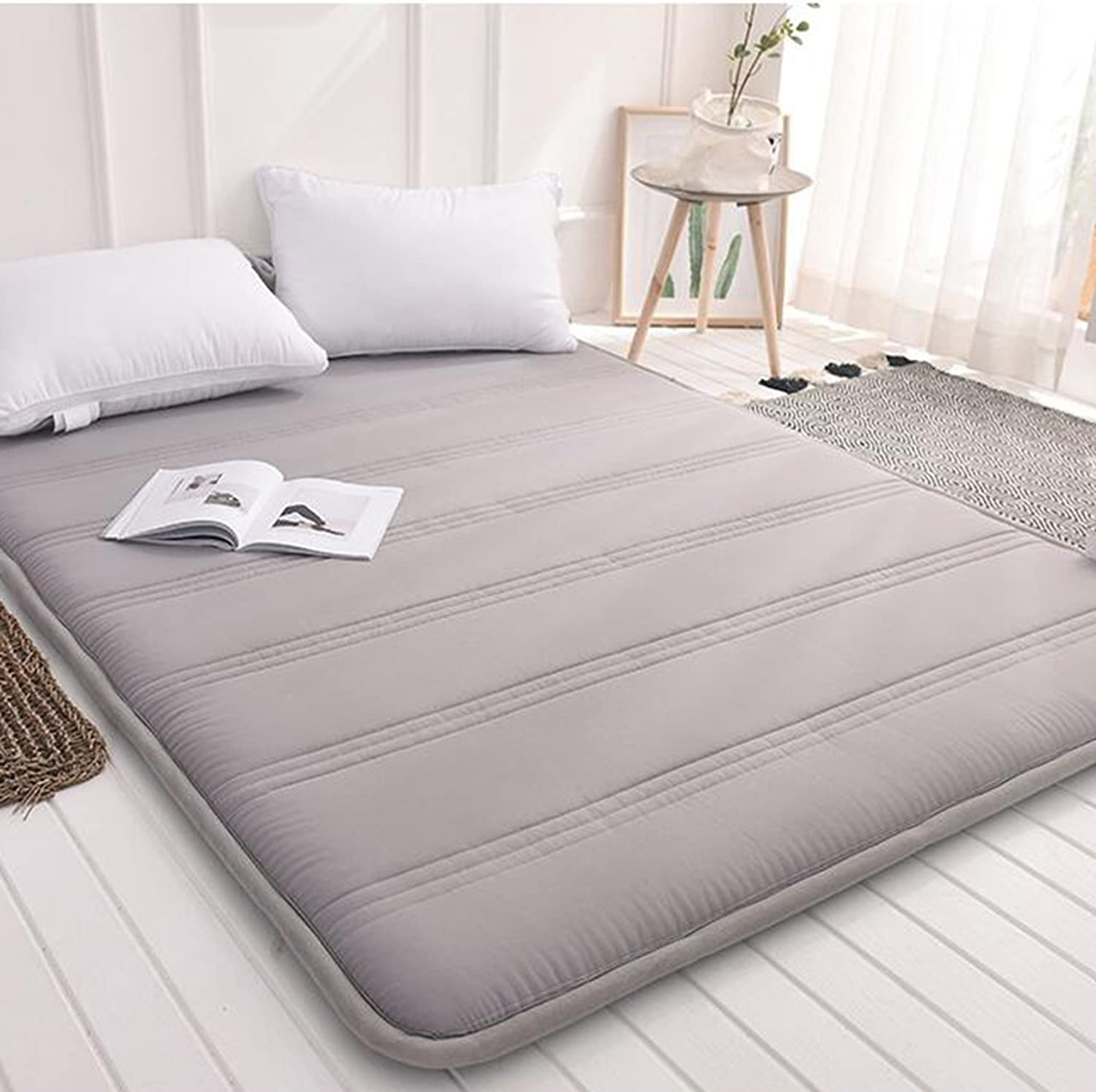Foldable Queen Size Mattress,Tatami Floor mat Portable Sleeping pad Dorm futon Mattress Topper Quilted Bed Predection pad-B 90x200cm(35x79inch)