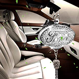 VILLSION Car Logo Perfume Air Freshener Fragrance Rearview Mirror Perfume Pendant for Driver with Gift Box